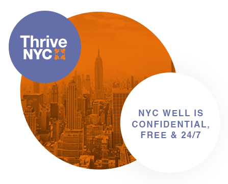 NYC Well is confidential, Free & 24/7