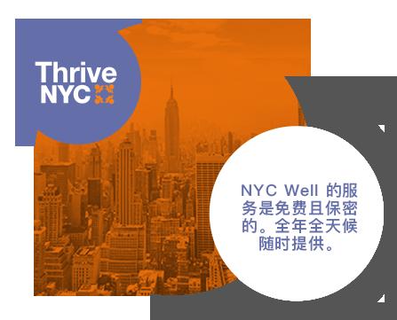 NYC Well 的服务是免费且保密的。全年全天候随时提供。